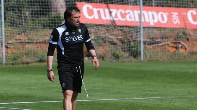 Alfredo, en un entrenamiento.