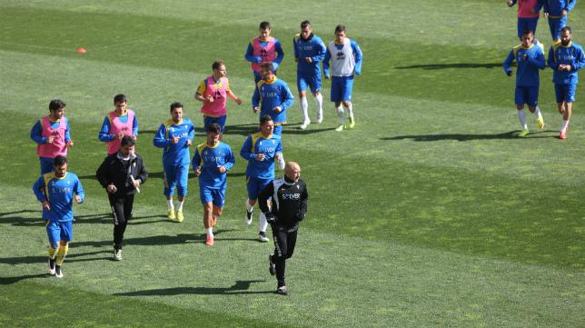 El Cádiz CF entrenó la pasada semana en el estadio Ramón de Carranza.
