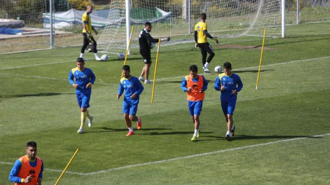 Varios jugadores cadistas, durante un entrenamiento.