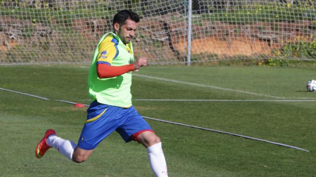 Rubio, en un entrenamiento.