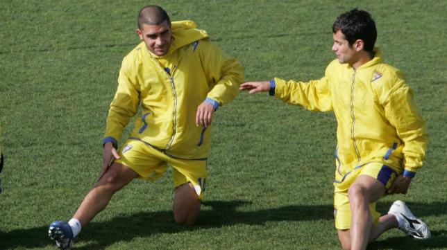 Enrique y Cristian forjaron una gran amistad en el Cádiz CF.