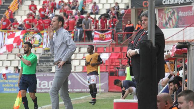 Vicente Moreno, entrenador del Nàstic.