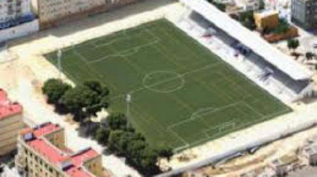 Vista aérea del campo de Sacramento donde el Cádiz CF se ejercitará mañana