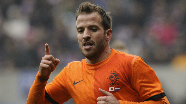 Van der Vaart, con la camiseta de la selección holandesa.