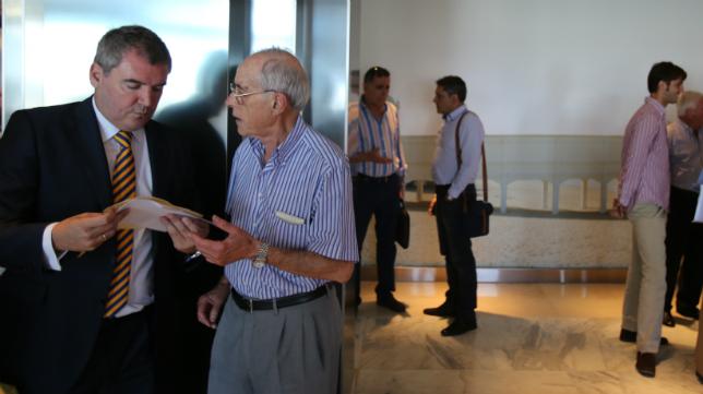 Manuel Vizcaíno, tras una junta de accionistas.