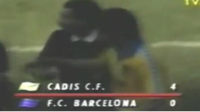 El 11 de mayo de 1991 el Cádiz CF goleó al FC Barcelona