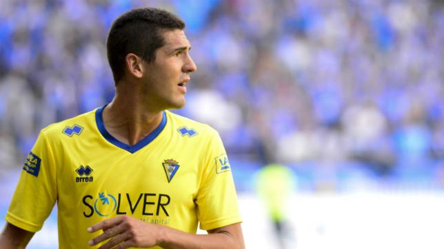 Jon Ander Garrido, en el partido disputado en Oviedo.