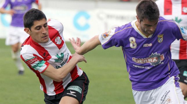 El lateral del Zamora Prada, en la izquierda de la imagen, jugará en el Cádiz CF el 'play off' de ascenso.