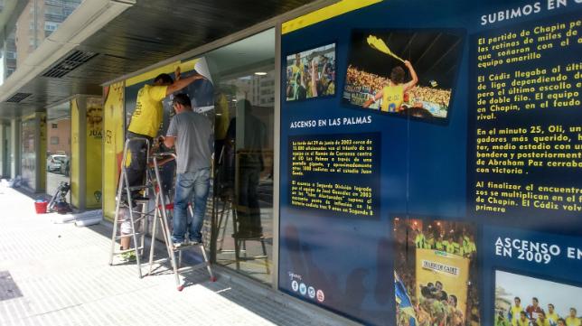 La tienda oficial del Cádiz CF (en la imagen con su antiguo aspecto) vuelve a cambiar de cara