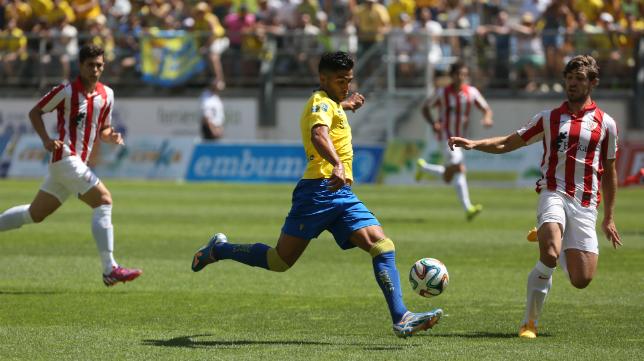 Jona marcó el gol ante el Bilbao Athletic