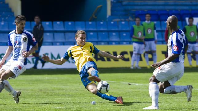 Abraham, ahora en el Espanyol, jugó el último partido en Carranza del Cádiz CF ante el líder Hércules.