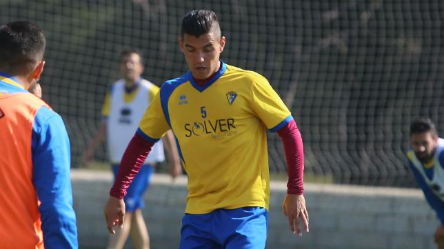 Josete, en un entrenamiento en El Rosal.