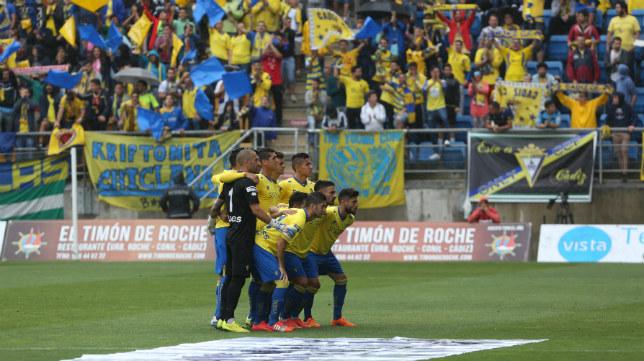 El once del Cádiz CF que jugó de inicio ante el Hércules.