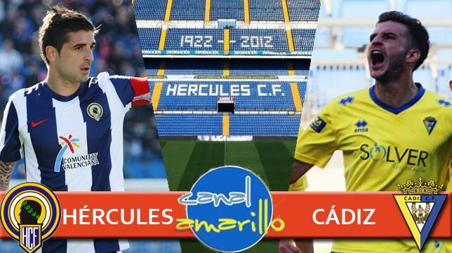 Sigue en Canal Amarillo el Hércules - Cádiz CF del 'play off'