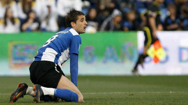 Javier Portillo, delantero del Hércules, lleva 4 partidos sin marcar.
