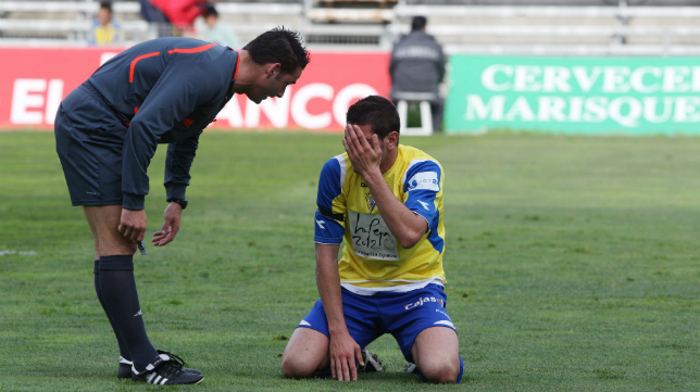 Sánchez Laso debutó en un duelo del Cádiz en el compromiso con el Puertollano (2010-11).