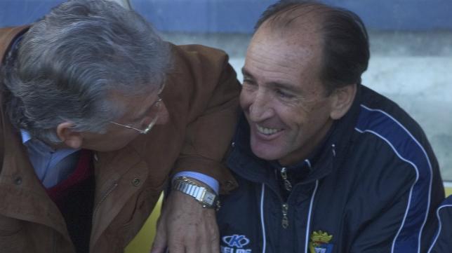 Víctor Espárrago y Luis Soler, el tándem que llevó a la gloria al Cádiz hace diez años.