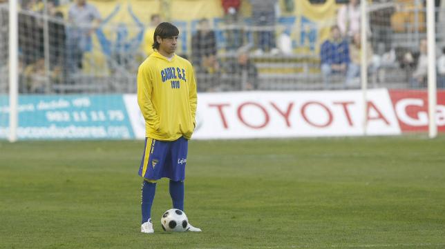 Javier Acuña, en su etapa en el Cádiz CF.