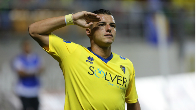 Airam celebra un gol en Carranza.