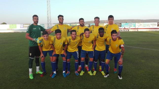 Once inicial del Cádiz CF ante el Barbate.