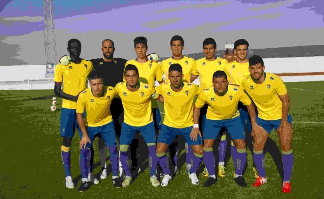 Once inicial con el que Calderón salió de inicio el año pasado en el amistoso en Barbate.