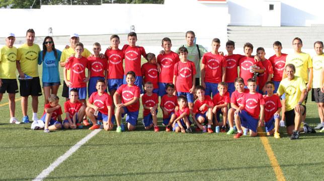 Participantes en el II Campus de Fútbol Ciudad de Medina Sidonia.