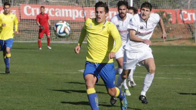 Canty, en un partido con el Cádiz B.