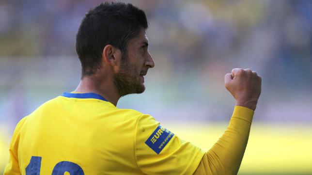 Fran Machado fue el autor de dos goles del Cádiz CF ante el Chiclana.