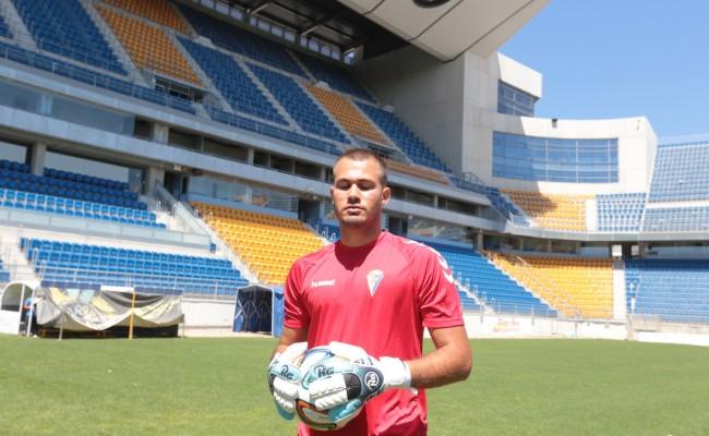 Guille Lara en su presentación como nuevo futbolista del Cádiz CF.