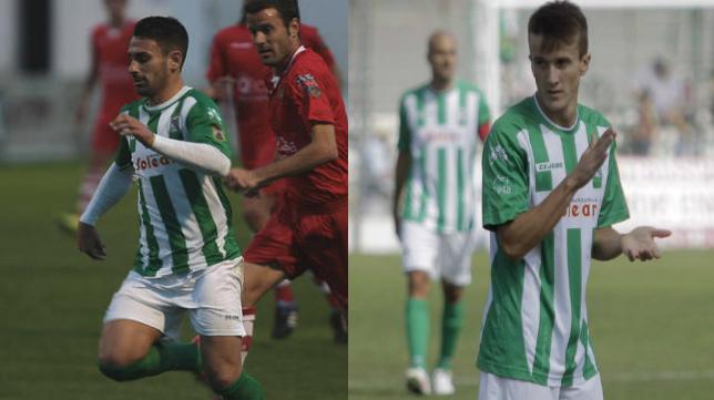 Kike Márquez y Salvi cuando eran jugadores del Sanluqueño