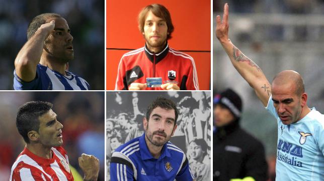 Salva, michu, Reyes, Zubikarai y Di Canio tuvieron problemas con las aficiones.