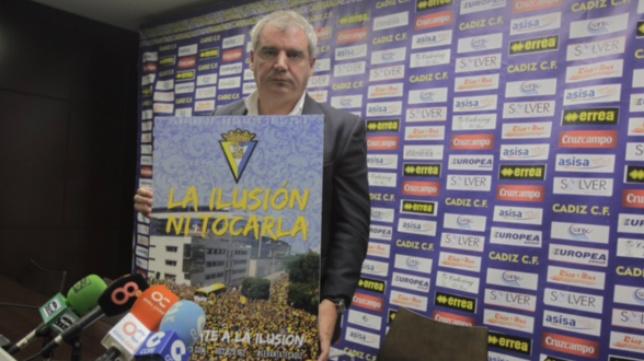 Manuel Vizcaíno, durante la presentación de la campaña de socios.