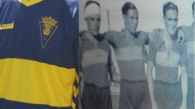 La segunda camiseta actual y la del Mirandilla en 1935
