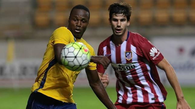 El delantero del Cádiz CF, Wilson Cuero, cuajó un buen partido ante el Atlético