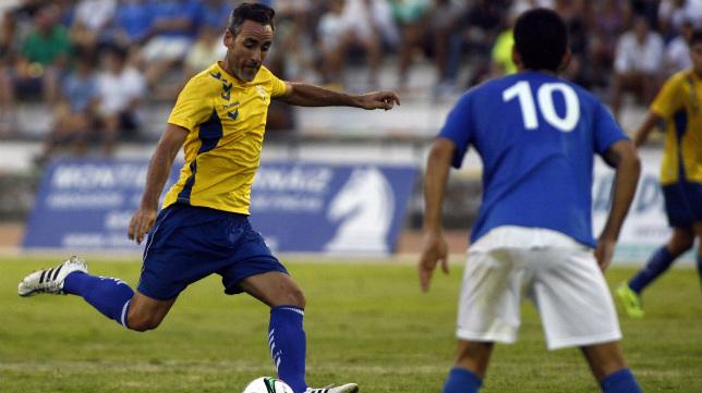 Abel Gómez en un partido de pretemporada