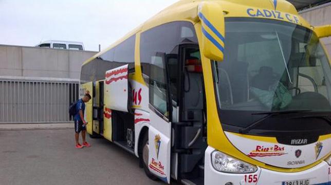 El autobús del Cádiz CF.