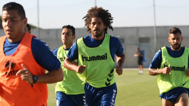 Aridane, en un entrenamiento.