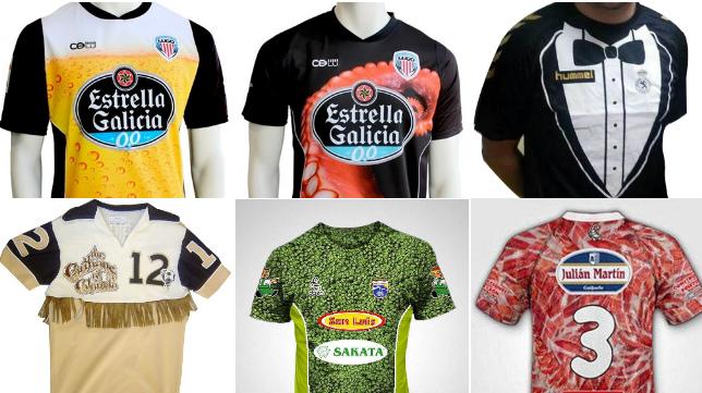 Algunas de las peores camisetas de fútbol que se recuerdan.