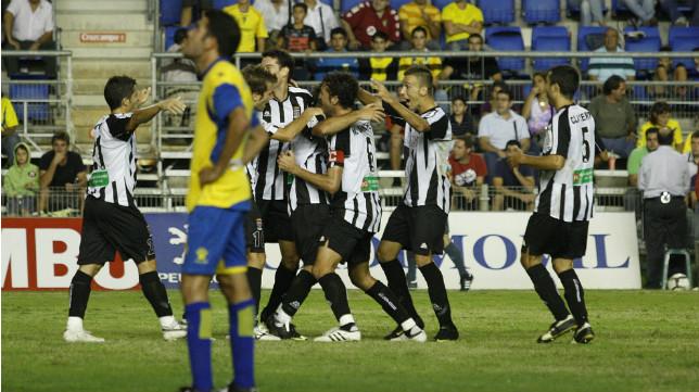 La única vez que el Cartagena ha ganado en Carranza fue en la 2009-2010, en Segunda división.