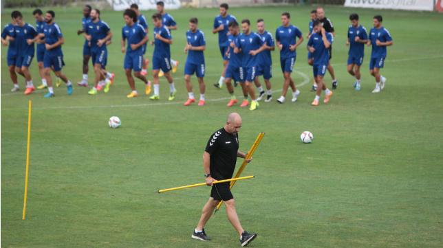 Claudio, en una imagen durante el entrenamiento en El Rosal.