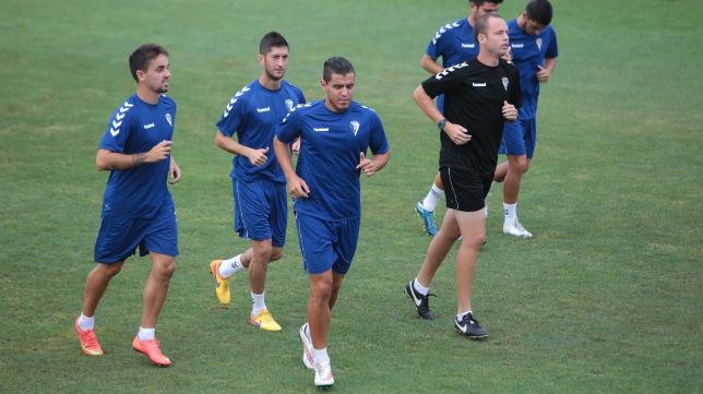 Josete en un entrenamiento del Cádiz CF