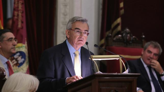 José Joaquín León, durante su intervención.