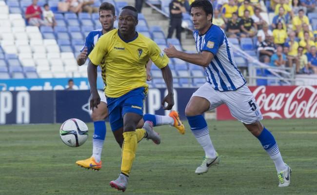 Wilson Cuero (en la imagen), Lolo Plá y Güiza no han anotado ni un sólo gol con el Cádiz CF.