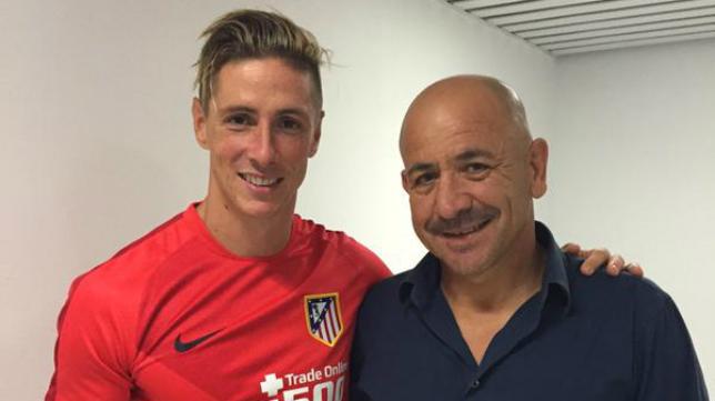 Fernando Torres y Claudio, delantero y exdelantero juntos en Carranza