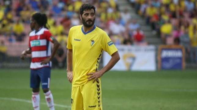 Dani Güiza durante el partido ante el Granada B
