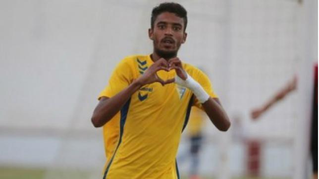Román, jugador del Cádiz B