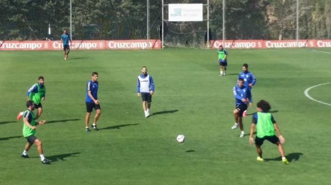 Andrés Sánchez entrenando en El Rosal