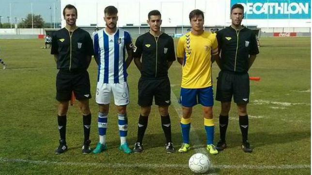 Imagen del duelo entre el Recreativo B y el Cádiz CF B