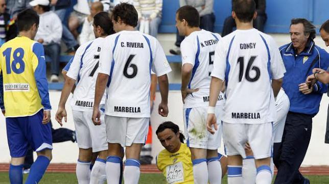 El Cádiz CF de Javi Gracia no pudo vencer en Marbella