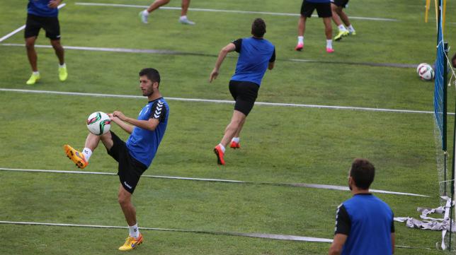 Fran Machado, en un entrenamiento.